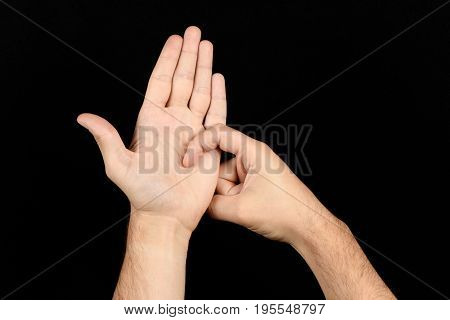 The Language Of The Deaf English Version Of The Gesture The Letter R Signaling Bsl