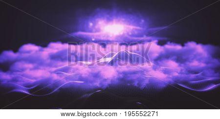 Purple Peeking Mountain