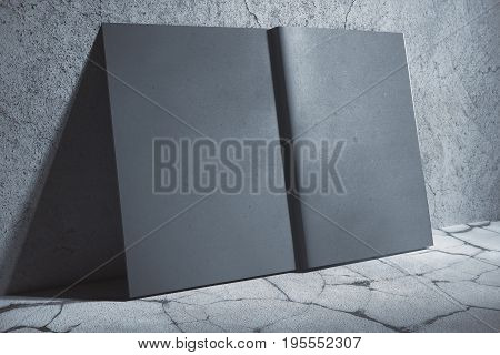 Gray Hardcover Notebook Side