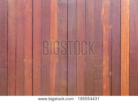 Red wooden plank backdrop or texture, close up.
