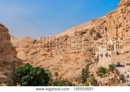 St. George Orthodox Monastery is located in Wadi Qelt. The sixth-century cliff-hanging complex, with its ancient chapel and gardens, is still inhabited.