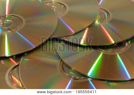 Background from brilliant fragments a compact disks