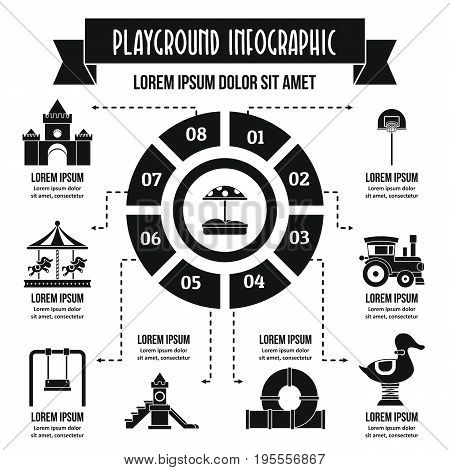 Playground infographic banner concept. Simple illustration of playground infographic vector poster concept for web