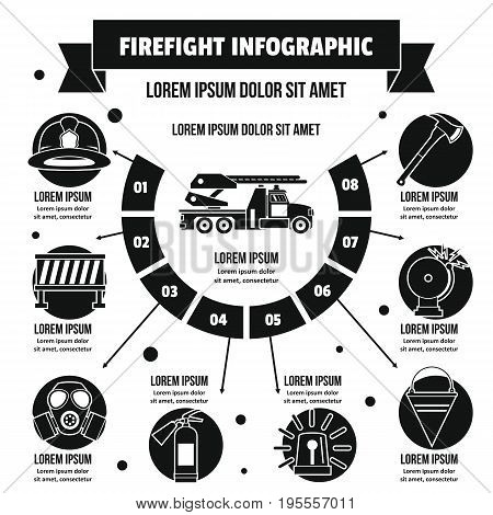 Firefight infographic banner concept. Simple illustration of firefight infographic vector poster concept for web