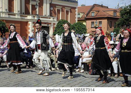 International Intangible Cultural Heritage Festival ''LAUKSNOS '' 07.15.2017 KLAIPEDA. (BISTRITSA BULGARIA)