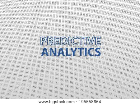 Predictive Analytics concept as vector illustration with icons