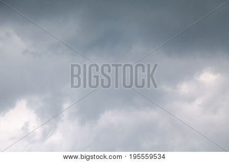 dark gray clouds of bad weather before the rain
