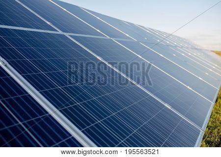 Innovative solar energy panels. Photovoltaic elements od solar cell.