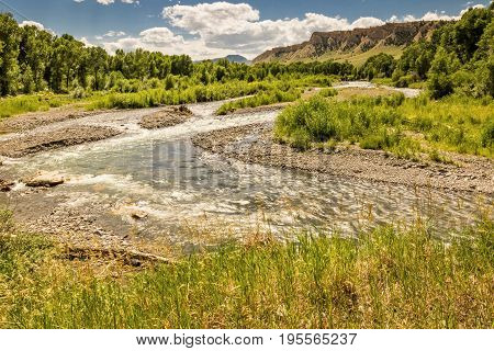 Wyoming Stream in the High Plains of Wyoming