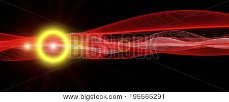 Powerful Panorama Background Design Illustration With Light