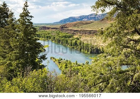 Snake River from the top of a mountain in Idaho