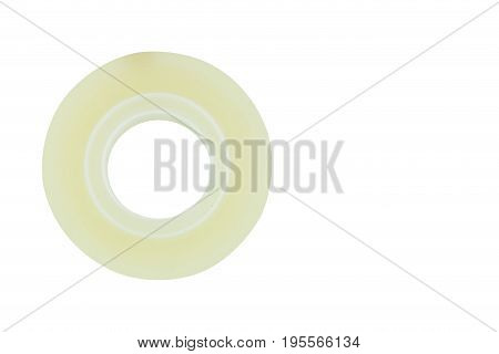 Clear Adhesive Tape Texture Isolate On White Background, Clipping Part