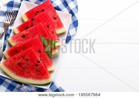 Sliced Juicy Watermelon