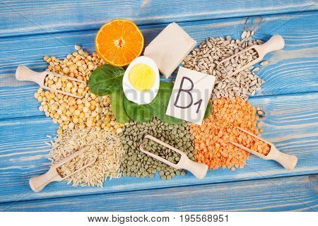 Products Or Ingredients Containing Vitamin B1 And Natural Minerals, Healthy Nutrition