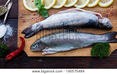 fresh trout ready for cooking