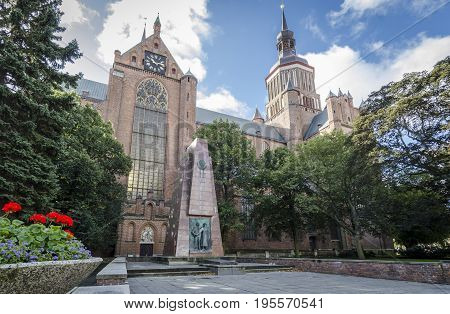 St Mary's Church in the Hanseatic city of Stralsund Germany