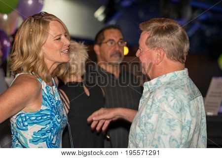 VALLEY FORGE CASINO, KING OF PRUSSIA, PA - JULY 15: Leslie Gudel, former Comcast SportsNet reporter, at Kendall s Crusade fundraising event on July 15, 2017