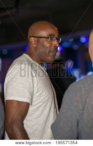 VALLEY FORGE CASINO, KING OF PRUSSIA, PA - JULY 15: former Philadelphia Eagles football player Mike Quick at Kendall s Crusade fundraising event on July 15, 2017