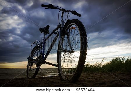 Traveling By Bicycle. Beautiful Scenery With A Bicycle.
