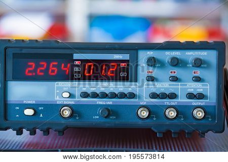Measuring instruments in the laboratory of physics and electronics