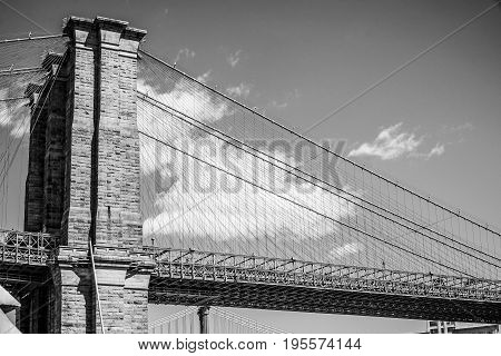 Brooklyn Bridge New York - a famous landmark- MANHATTAN - NEW YORK