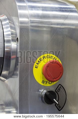 emergency stop button;Security push switch;shut down;For safety issue;selective focus