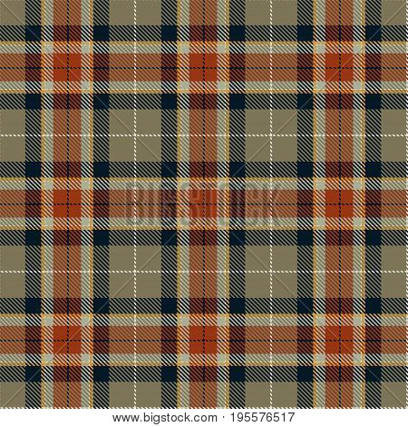 Tartan Seamless Pattern Background. Red Black Brown Gold and White Plaid Tartan Flannel Shirt Patterns. Trendy Tiles Vector Illustration for Wallpapers.