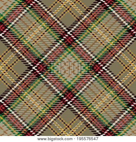 Tartan Seamless Pattern Background. Red Black Green Brown Gold and White Plaid Tartan Flannel Shirt Patterns. Trendy Tiles Vector Illustration for Wallpapers.