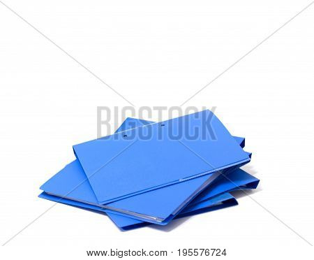 file folder with documents and documents. retention of contracts. isolated white  copy space