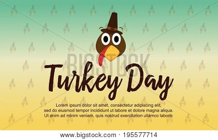 Collection stock Thanksgiving theme background vector illustration