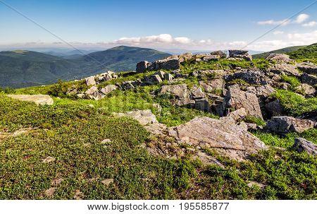 Huge Boulders On The Edge Of Hillside
