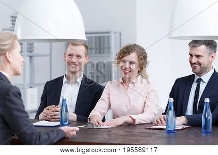 Smiling Recruiters During Interview