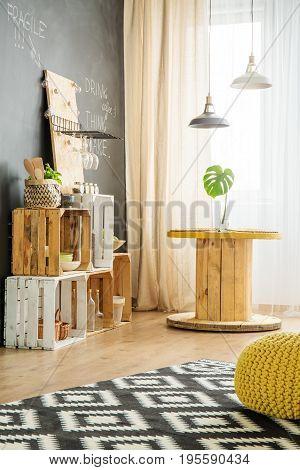 Modern Interior With Diy Furniture