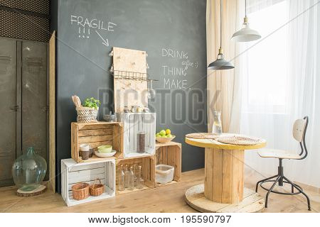 Hygge Cafe With Upcycled Furniture