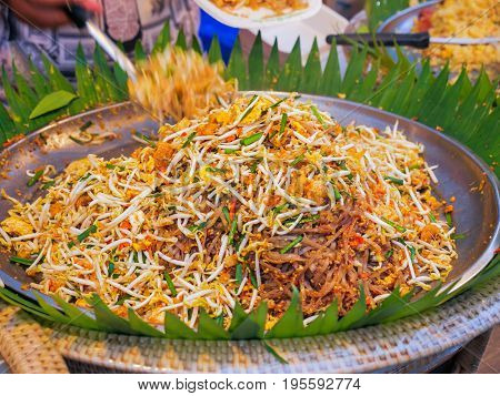 Pad Thai, Stir Fry Noodles In  Thai Style,