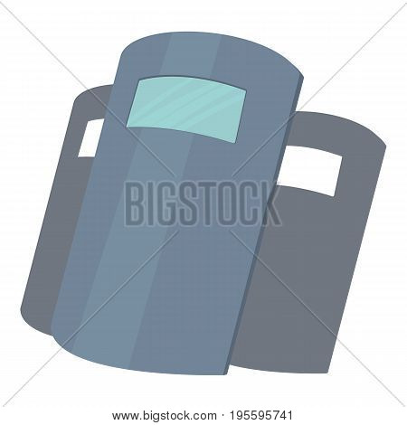 Police shields icon. Cartoon illustration of police shields vector icon for web