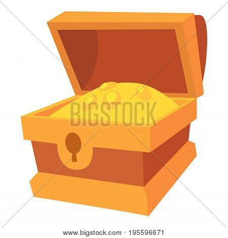 Chest of gold icon. Cartoon illustration of chest of gold vector icon for web