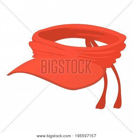 Summer cap icon. Cartoon illustration of summer cap vector icon for web