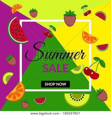 Fruit Discount Sale Banner Shop Design Vector Eps 10 Design