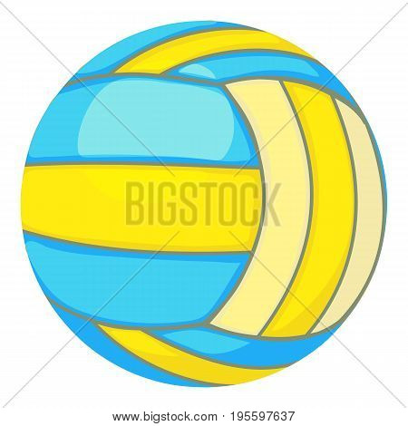 Ball for volleyball icon. Cartoon illustration of ball for volleyball vector icon for web