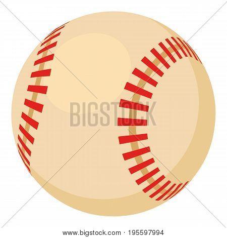 Baseball ball icon. Cartoon illustration of baseball ball vector icon for web