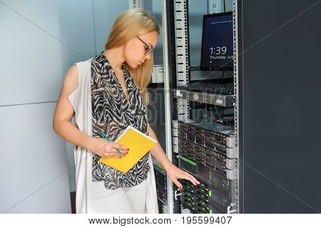 Young Woman Engineer It Technician
