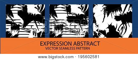 Abstract spotty brushed background. Seamless pattern. Vector