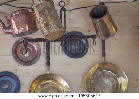 Cookware for fire made of copper alloy Russia poster