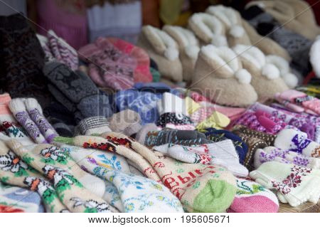 Countertop for the sale of knitted socks Russia Russia