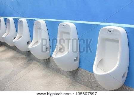 Urinals In Public Restroom For Men Only