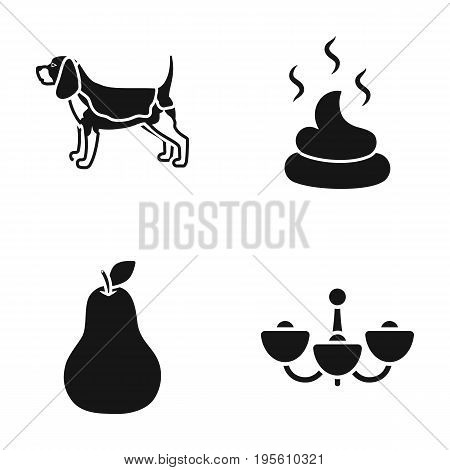 Breed, Cooking and or  icon in black style.cleanliness, lighting icons in set collection.