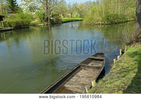 Landscape in the Spree woods (Spreewald) Brandenburg Germany