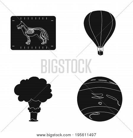 veterinary , War and or  icon in black style. travel, space icons in set collection.