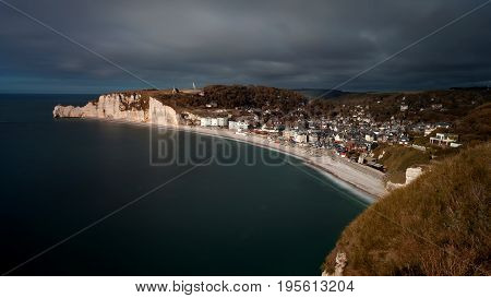 Etretat, a commune in the Seine-Maritime department in the Normandy region of north western France